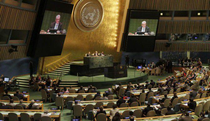 Asamblea de las Naciones Unidas. (AP/RICHARD DRES)