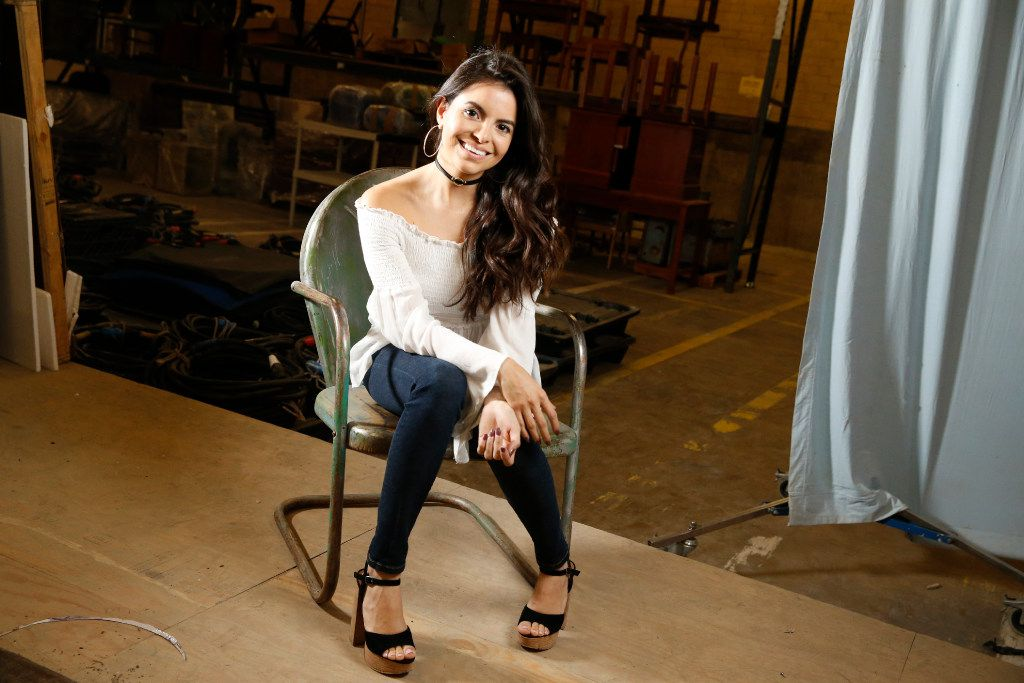 """Sandy Valles poses for a portrait during a visit to the set of """"Queen of the South"""" at South Side Studios in Dallas."""
