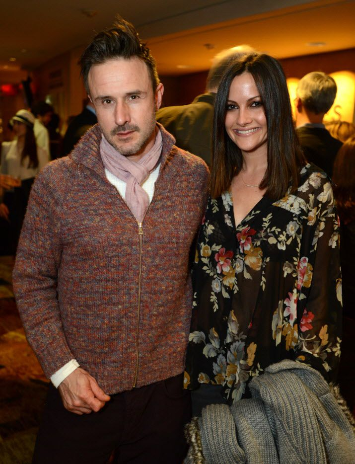 "FILE - This Feb. 6, 2013 file photo shows actor David Arquette, left, and Christina McLarty at the opening night of ""The Gift"" at the Geffen Playhouse in Westwood, Calif."