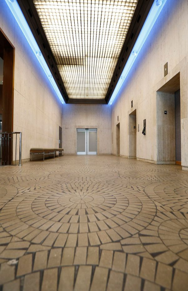 The original floor is used in the AC Hotel by Marriott's lobby in Dallas.