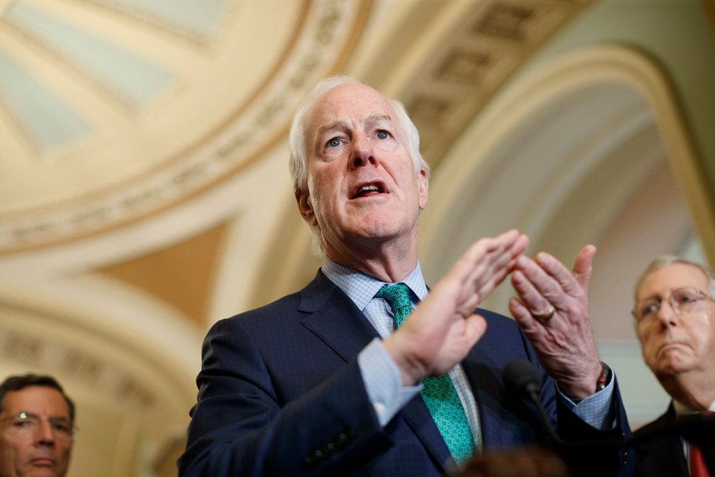 Texas Sen. John Cornyn was on the receiving end of a broadside from Tennessee Sen. Bob Corker, who mocked his fellow Republican for not supporting legislation that would rein in President Donald Trump on trade. (Tom Brenner/ The New York Times)
