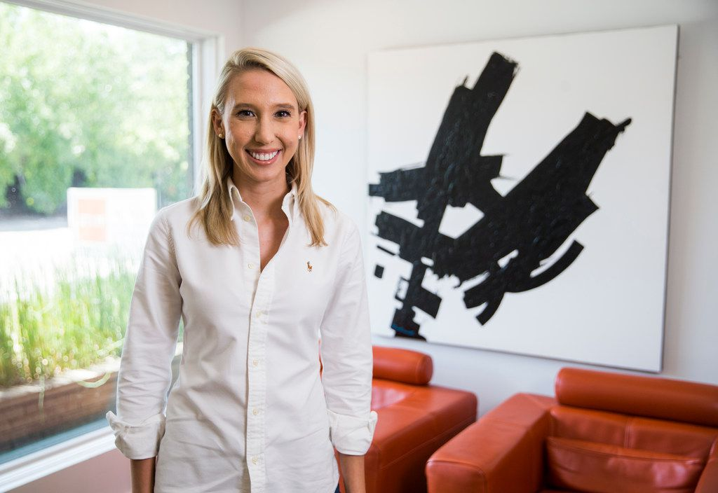 """Realtor Jolie Barrios, shown in the office of Clay Stapp+Co, said millennial clients want to buy homes that are affordable, eco-friendly and recently updated. """"We all work a lot, so we don't have the time to do a renovation when we buy,"""" she said."""