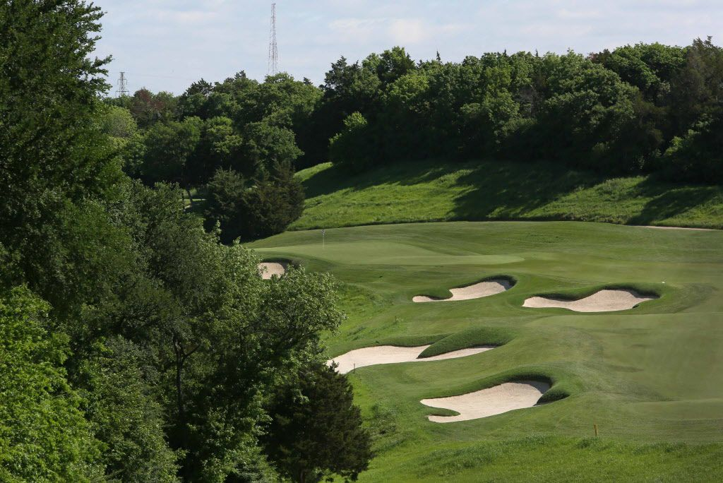 Hole No. 9 at Dallas National Golf Club, photographed on Wednesday, April 15, 2015. (Louis DeLuca/The Dallas Morning News)