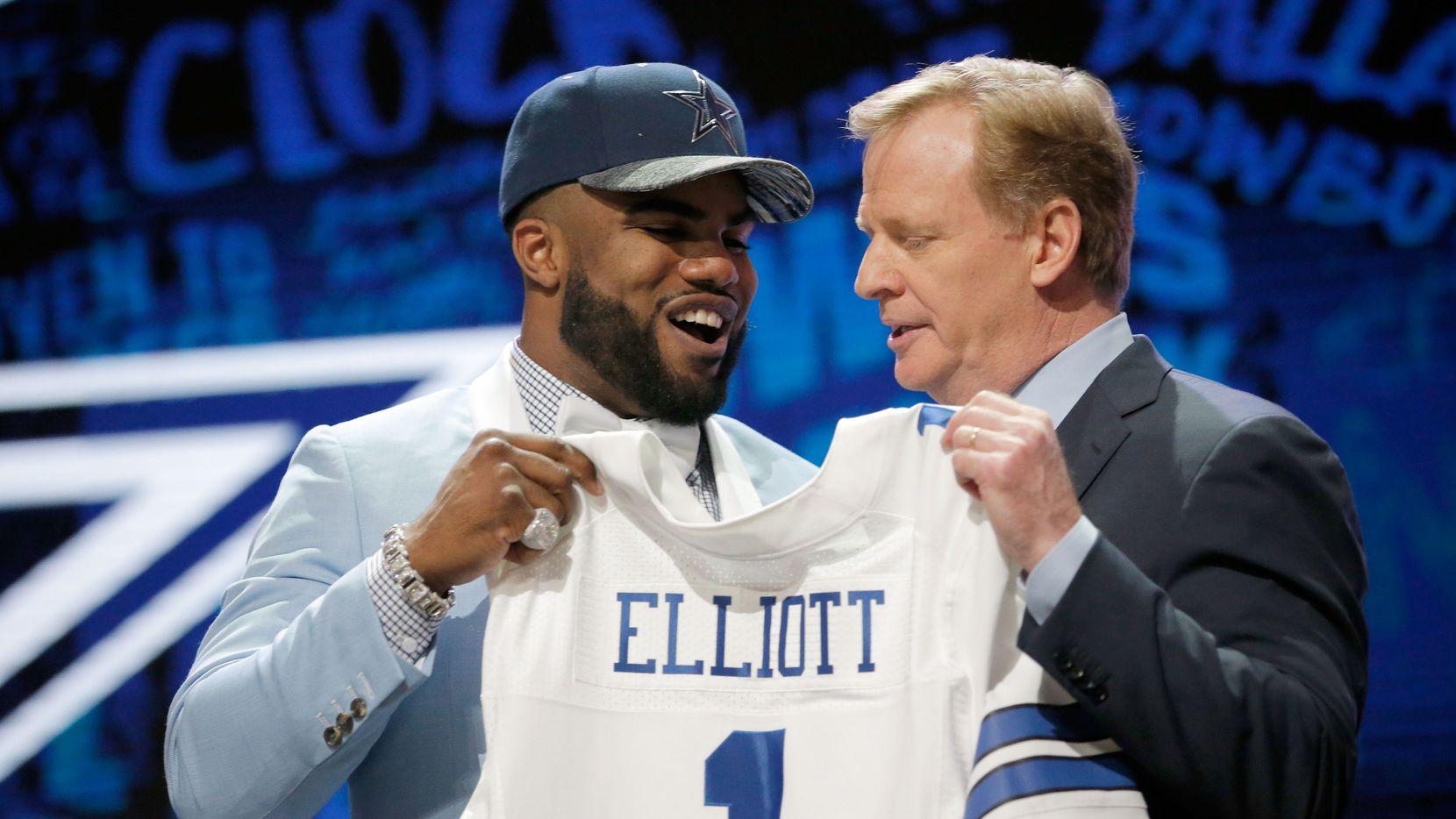 Ezekiel Elliot fue elegido por los Cowboys en el draft. Foto GETTY IMAGES