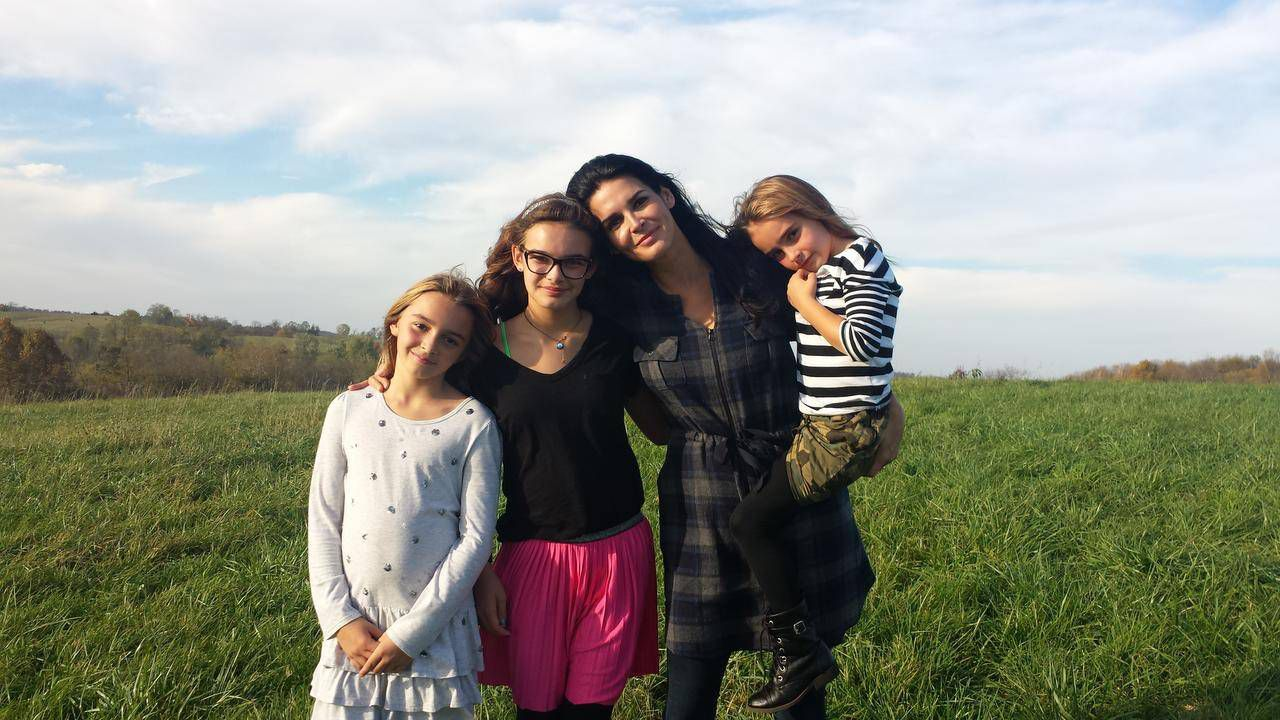 Angie Harmon with her daughters (from left: Avery, Finley and Emory).