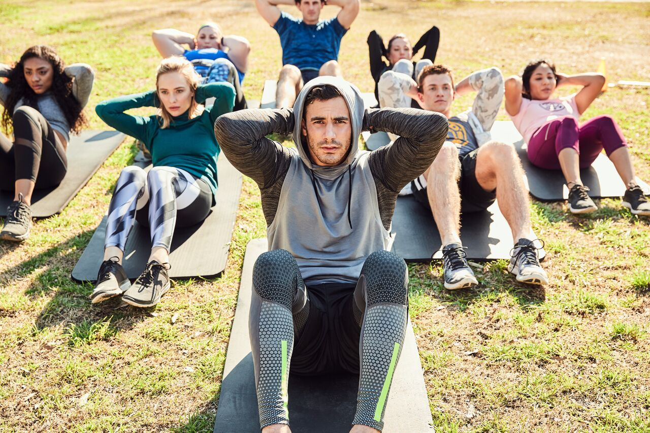 Once you've gotten all sweaty cleaning up around Main Street Garden Park, you can get even sweatier at the Gold's Gym free boot camp.