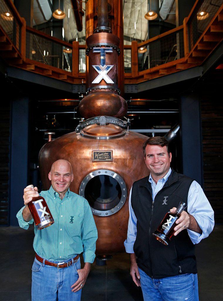 Founders of Firestone and Robertson Distillery Leonard Firestone (left) and Troy Robertson