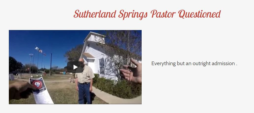 Robert Ussery claims the Sutherland Springs massacre was staged.