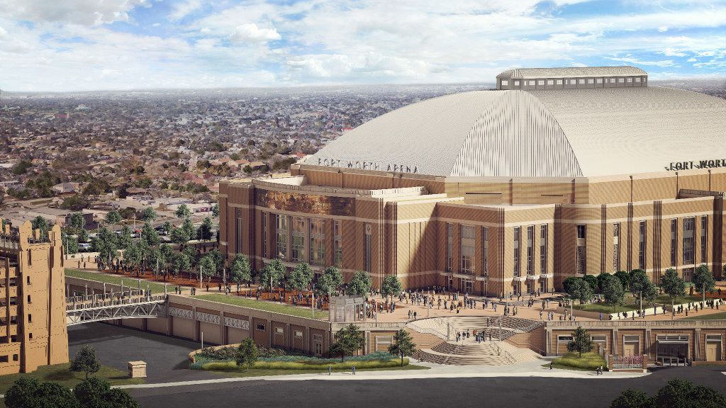 Rendering of the new Multipurpose Arena Fort Worth scheduled to open in 2019. This is how it will look from the south.