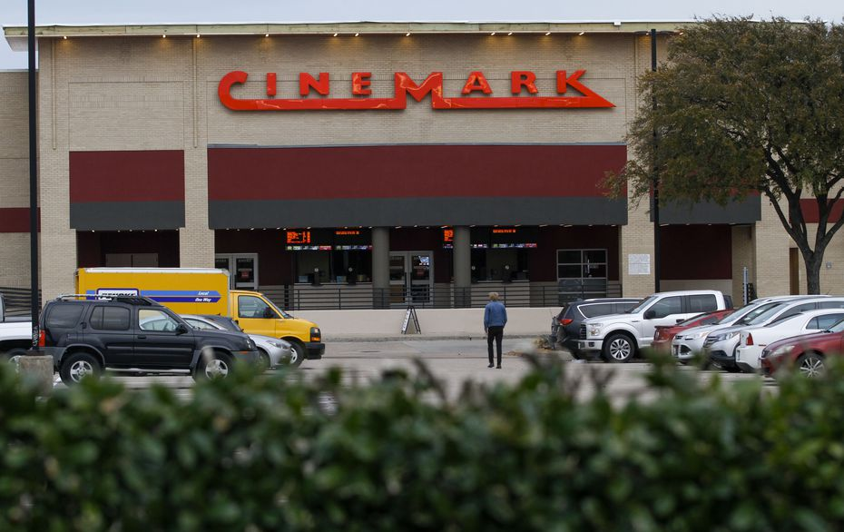 The exterior of the Cinemark movie theater at Coit and Park in Plano has been given a face lift.