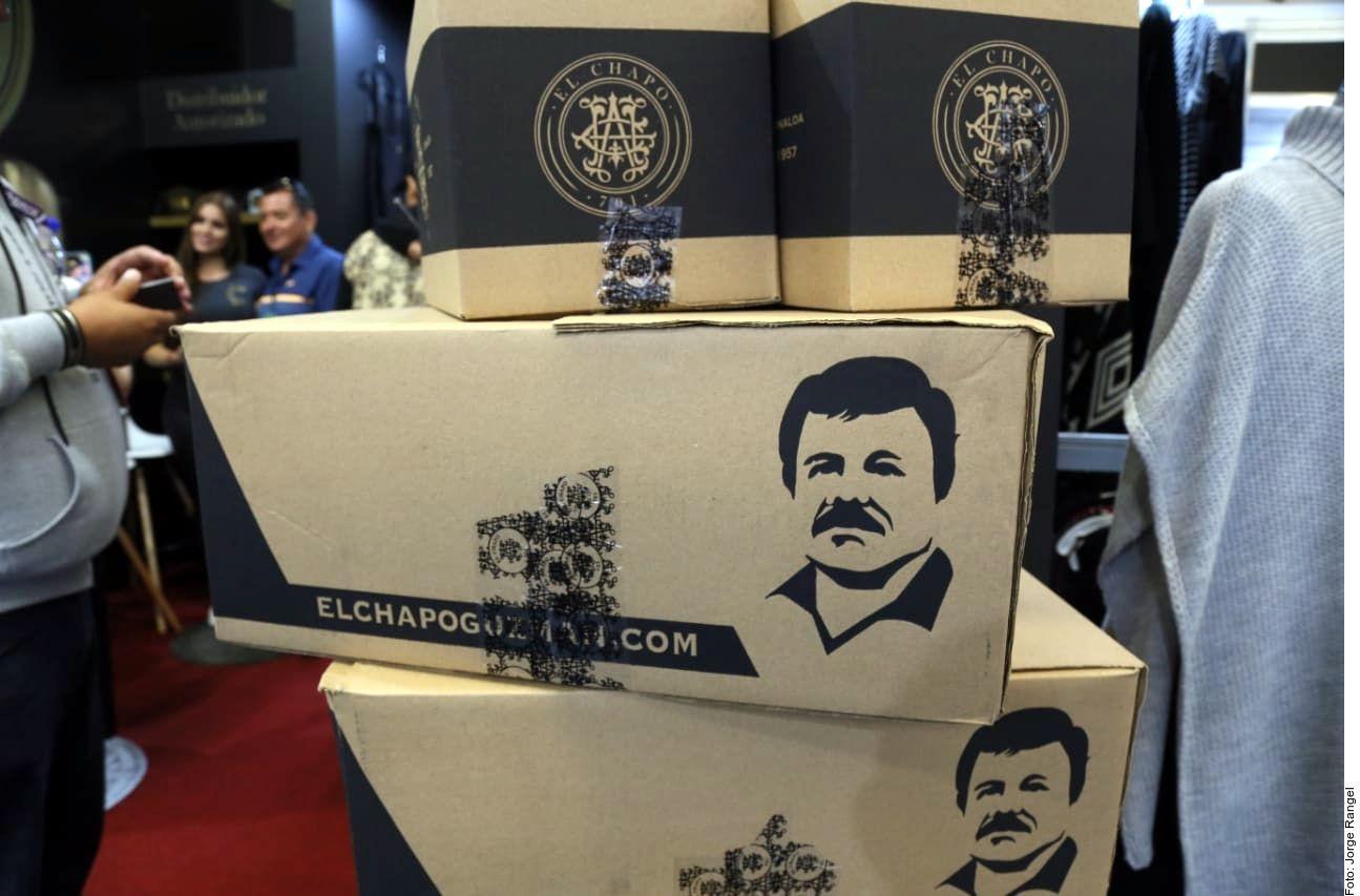 Los productos marca El Chapo están exhibidos en Intermoda, que se realiza en Expo Guadalajara.