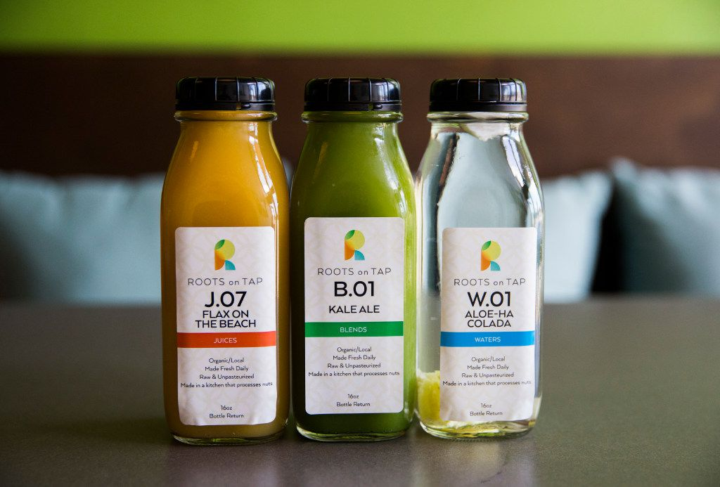 Juices at Roots on Tap across the street from Fair Park on Friday, January 20, 2017 on Parry Avenue in Dallas.