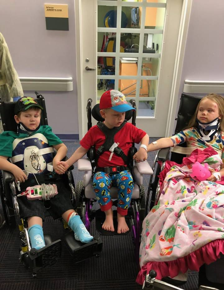 Zachary, 5, Wyatt, 4, and Angela, 8, were reunited at a Fort Worth hospital after surviving a fatal crash that claimed the lives of their parents and youngest sibling.
