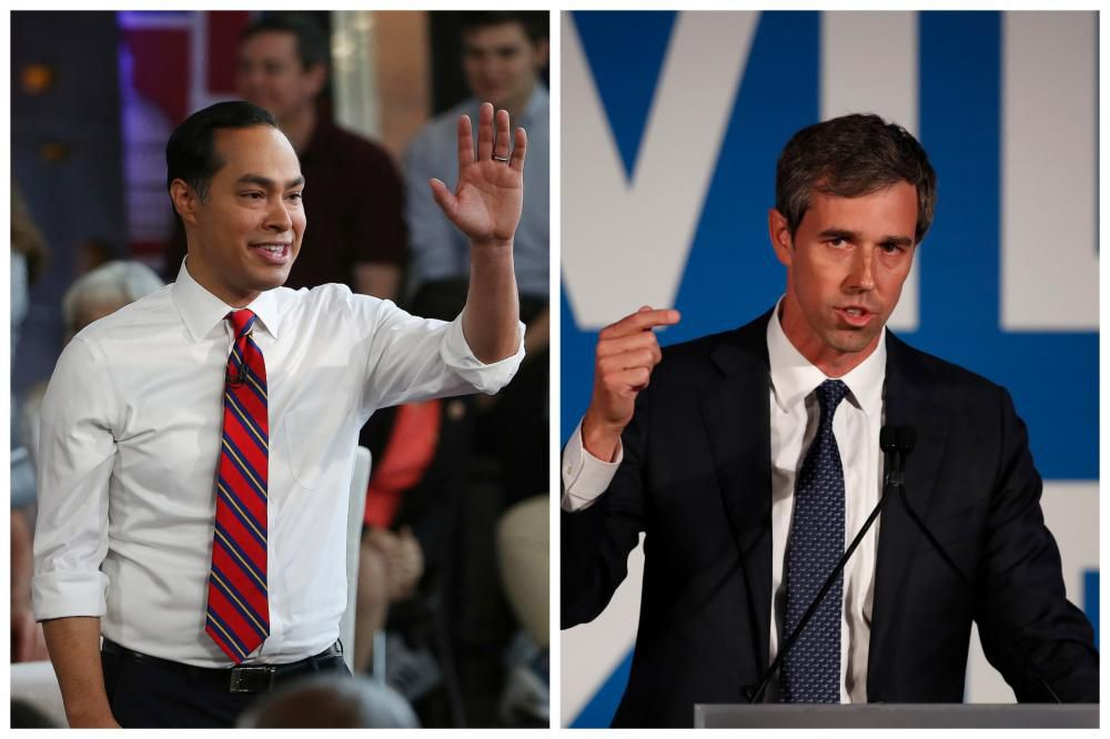 San Antonio's Jullian Castro and El Paso's Beto O'Rourke are set to square off in the first of the Democratic presidential debates. (AP photos)