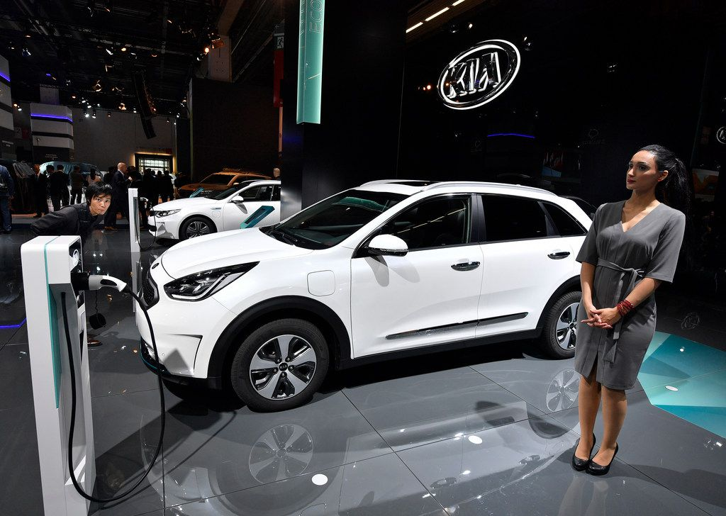 The Kia Niro plug-in hybrid, shown here at the International Frankfurt Motor Show IAA in Frankfurt, Germany, in September, was deemed to be the most reliable vehicle in Consumer Reports' 2017 ranking.