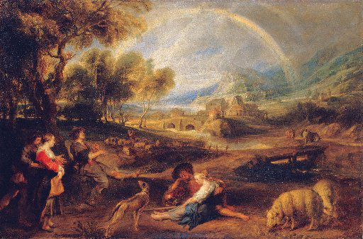 Peter Paul Rubens (Flemish, 1577-1640) Landscape with Rainbow, ca. 1632-35 Oil on canvas, transferred from panel 33 7/8 x 50 3/16 inches (86 x 130 cm) State Hermitage Museum, St. Petersburg