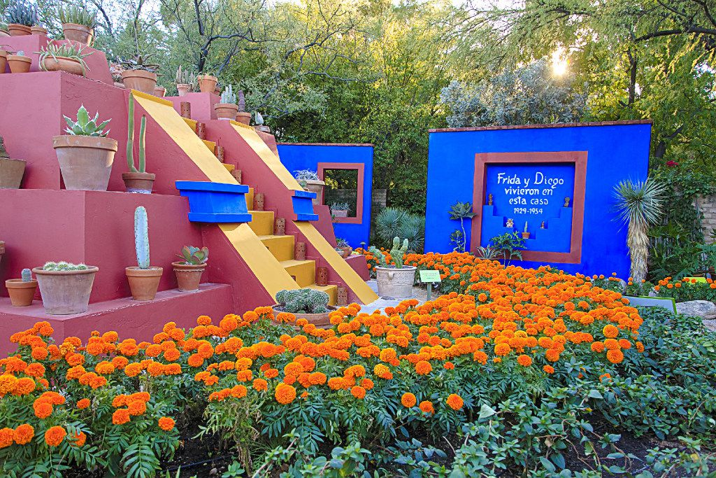 Sections of Frida Kahlo's Casa Azul home and gardens are re-created at the Tucson Botanical Gardens.TUCSONTHINGS