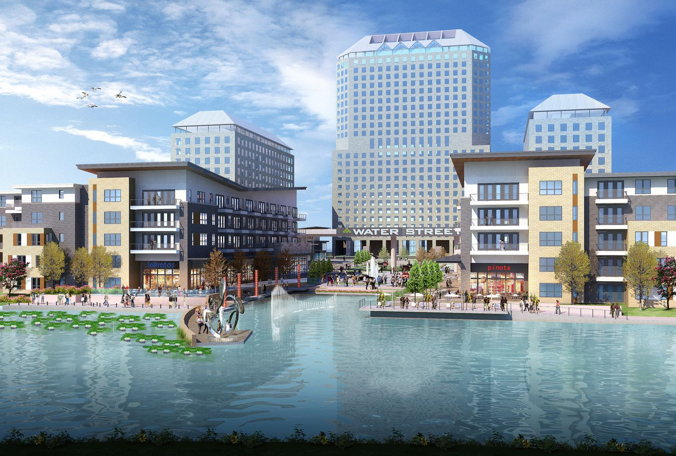 Gables Residential's Water Street project in Las Colinas will have more than 300 apartments and 60,000 square feet of retail.