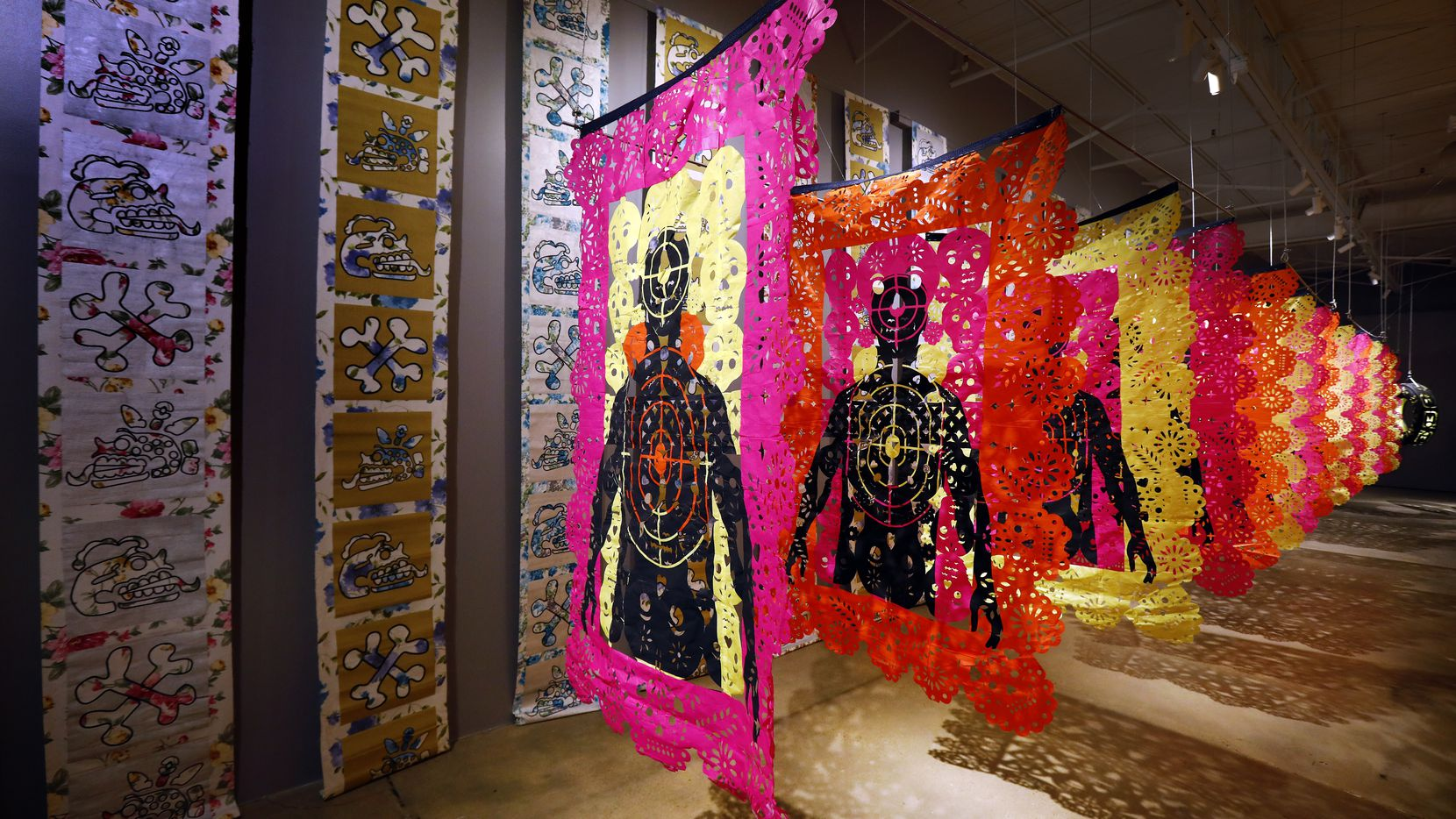 Betsabeé Romero's exhibition at Dallas' Latino Arts Project for Día de Muertos pays homage to victims of gun violence and those who have died while migrating.