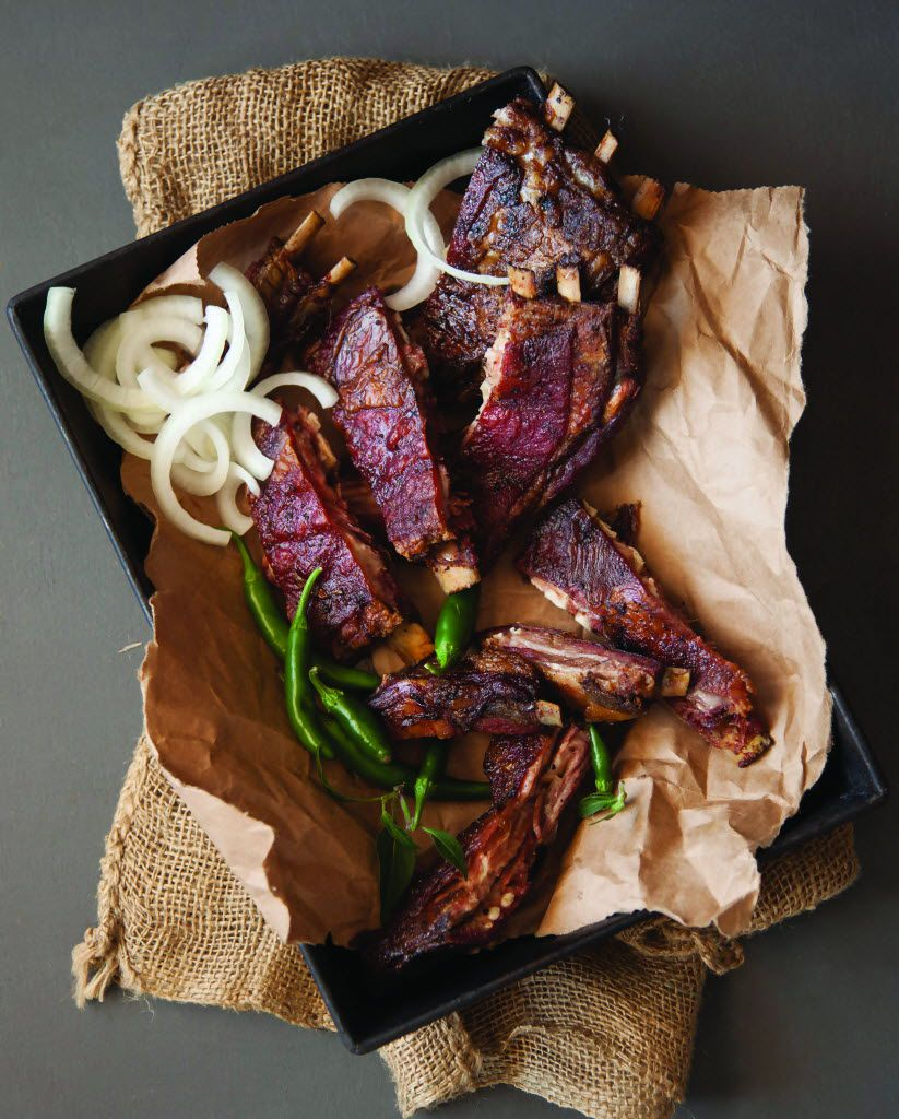 """Mesquite Smoked Lamb Ribs from """"Cowboy Barbecue: Fire & Smoke from the Original Texas Vaqueros"""" by Adrian Davila"""