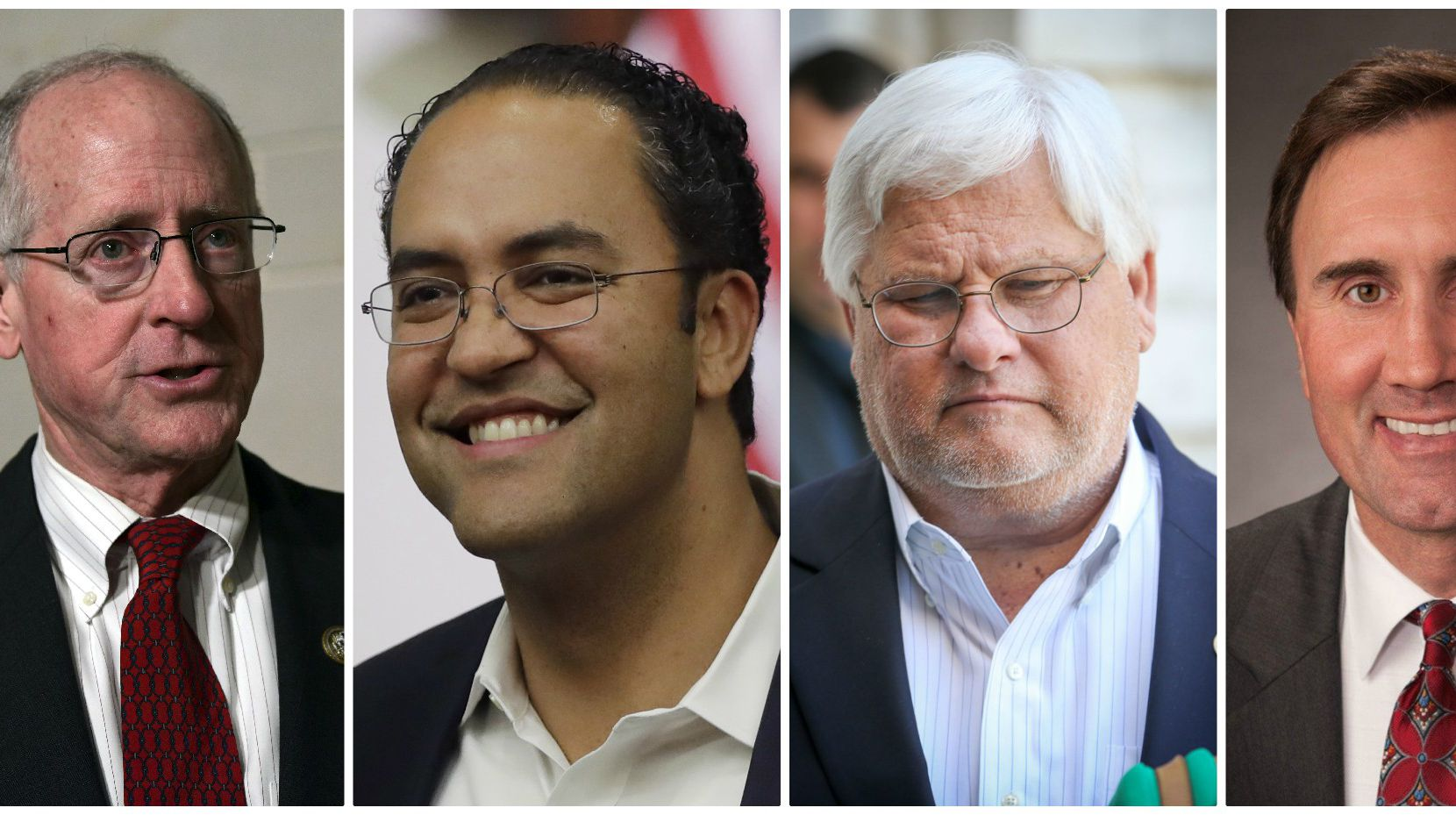 Four Texas Republicans in Congress recently announced that they would not seek reelection next year: from left, Rep. Mike Conaway of Midland, Rep. Will Hurd of San Antonio, Rep. Kenny Marchant of Coppell and Rep. Pete Olson of Sugar Land. (AP Photo/Susan Walsh; AP Photo/Eric Gray; Virginie LeFour/Belga/Zuma Press/TNS; Austin American-Statesman/TNS)