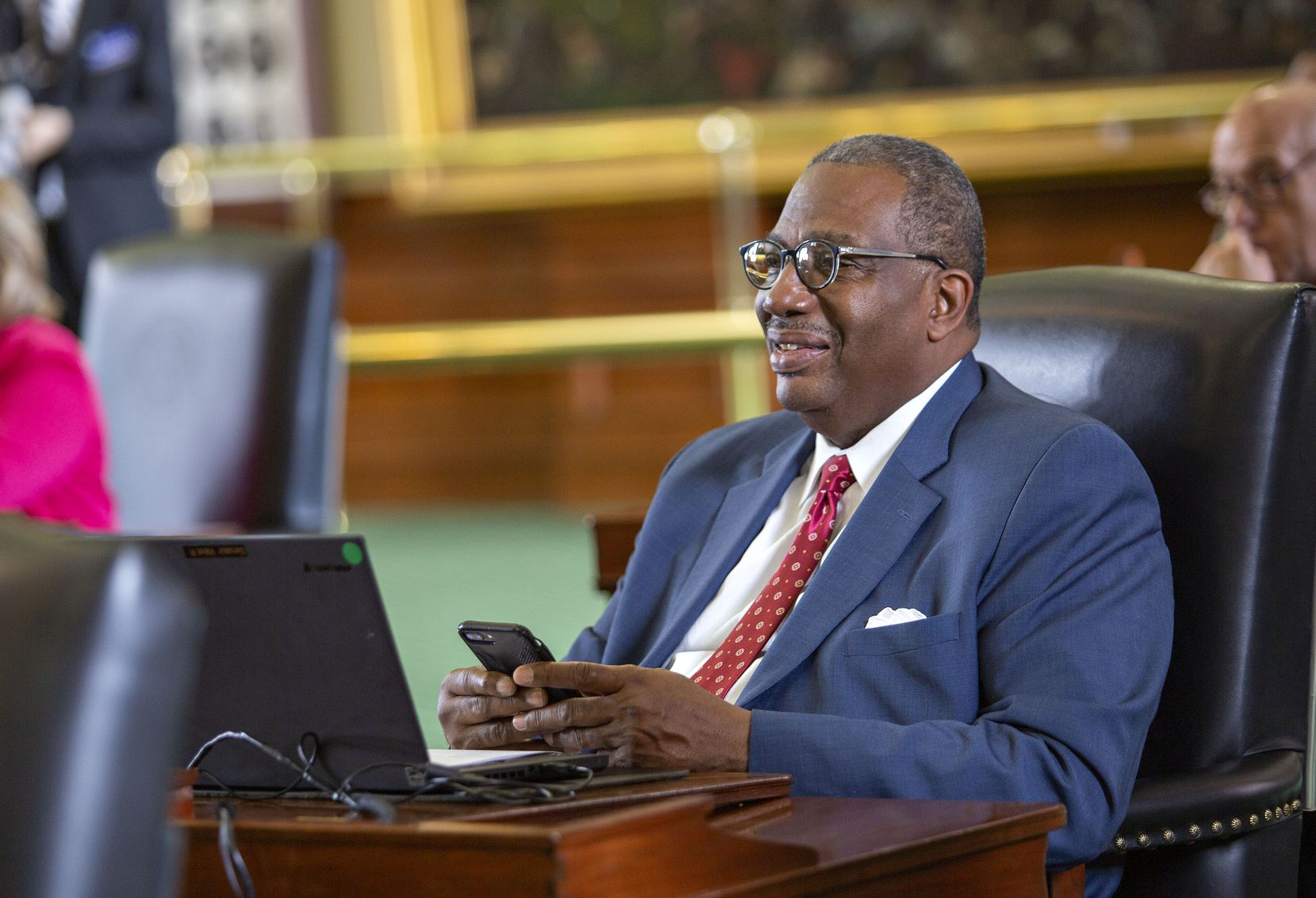 State Sen. Royce West as seen on the Senate floor just before Sine Die at the State Capitol of Texas on May 27, 2019 in Austin, Texas.
