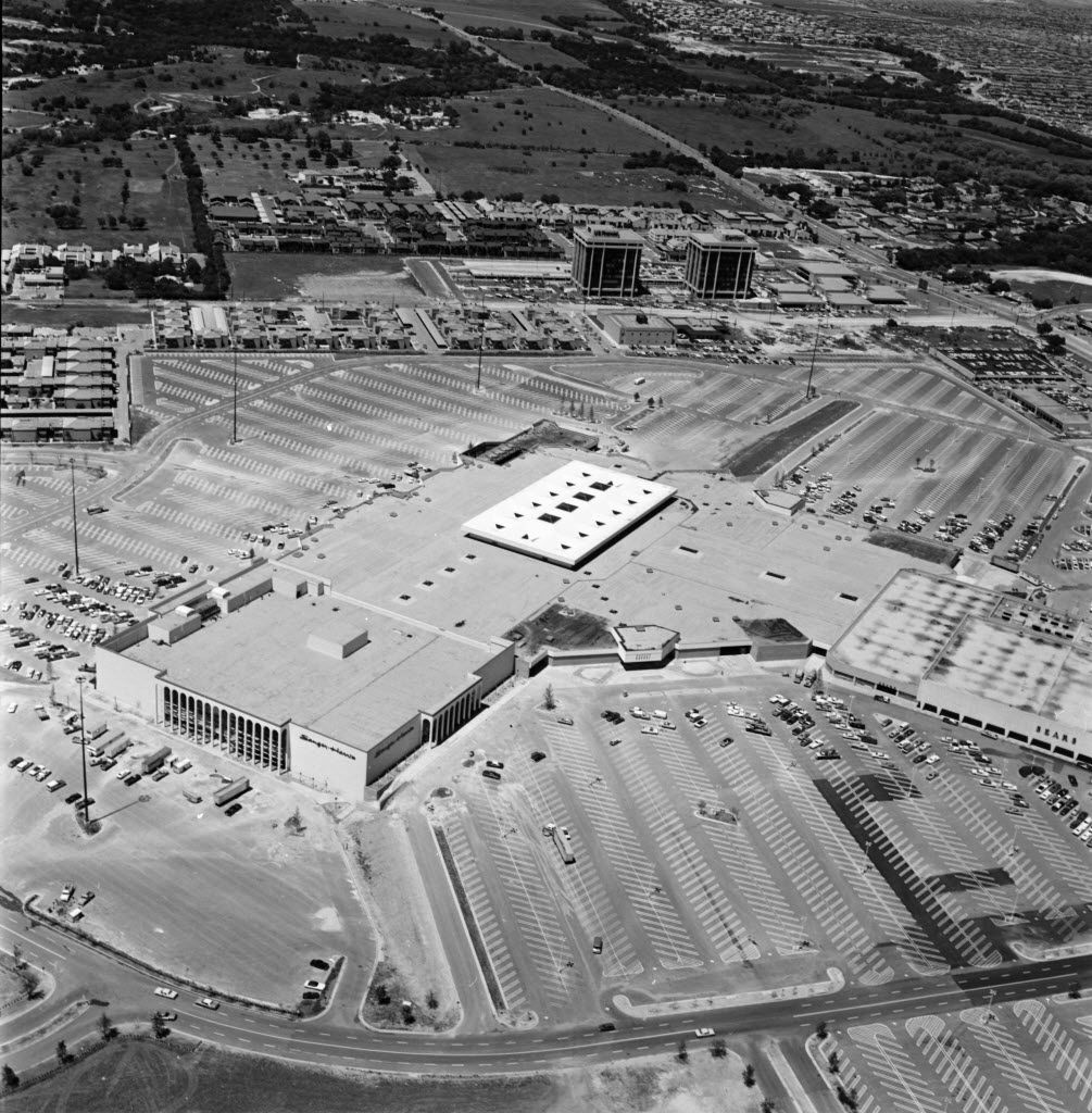 This aerial view was shot May 19, 1973. Be sure to look for the Sanger-Harris department store.