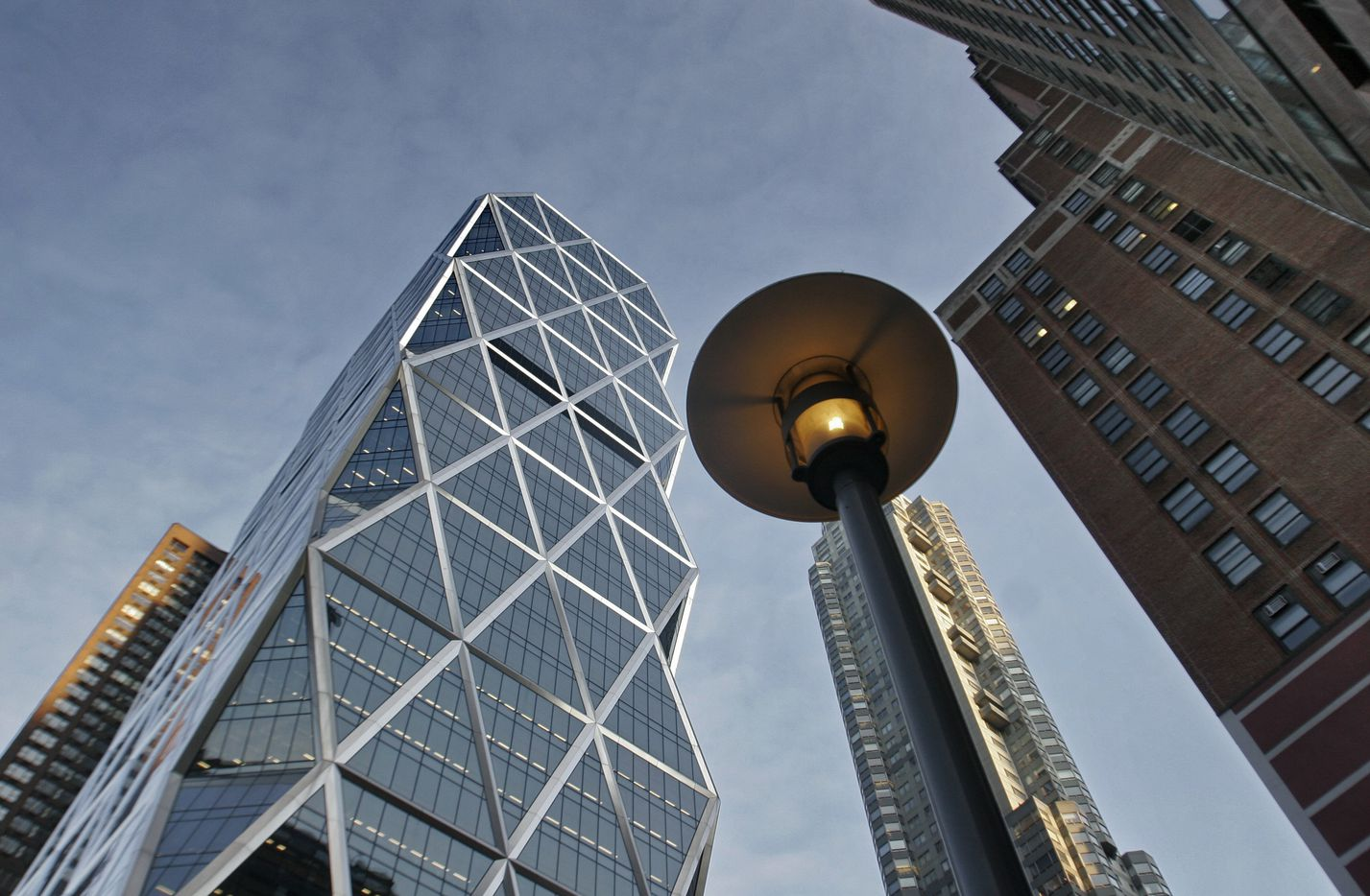 The Hearst Tower in Manhattan was designed by Sir Norman Foster.