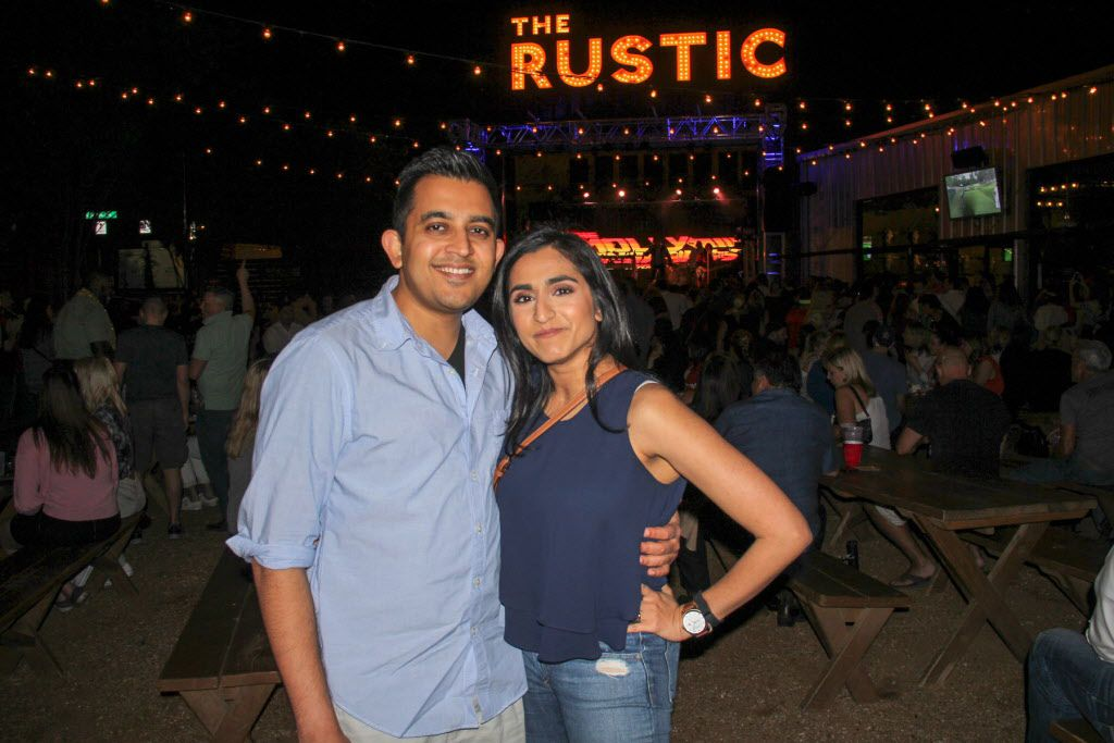 Div and Nicki Patel attended the #TBT to the '80s party on Thursday at the Rustic.