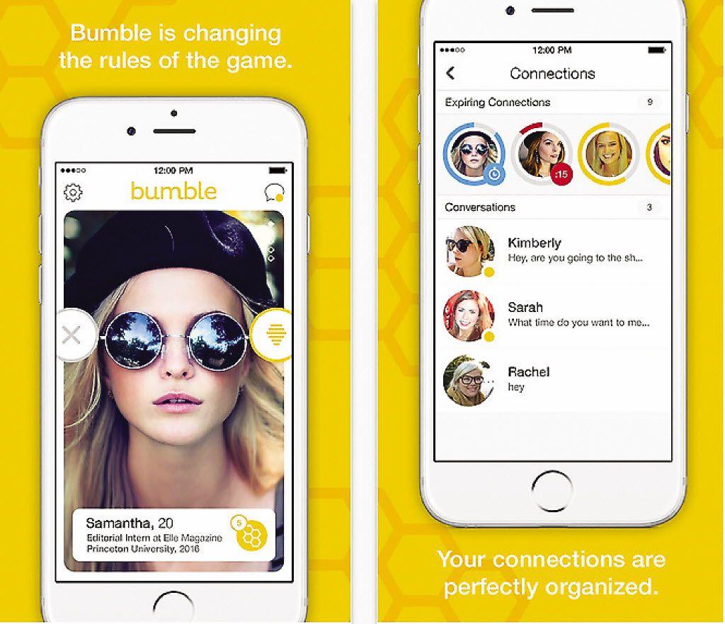 Screenshot of the Bumble app.