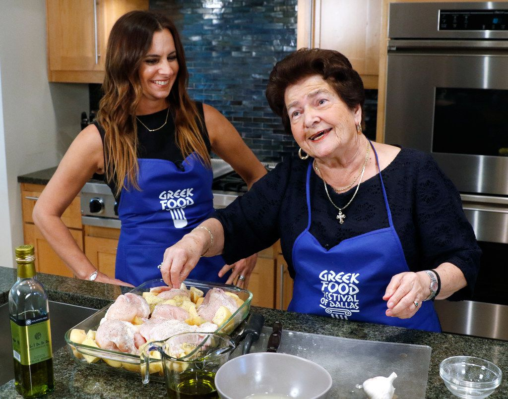 Christina Zarras prepares classic Greek Chicken and Potatoes with her granddaughter, Christina Moros.