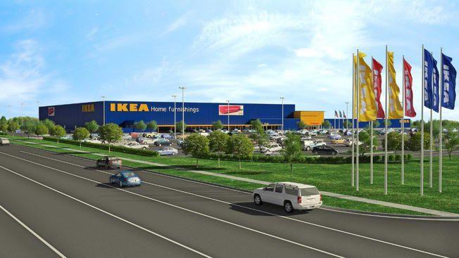 Una ilustración de la nueva tienda de IKEA en Gran Prairie.