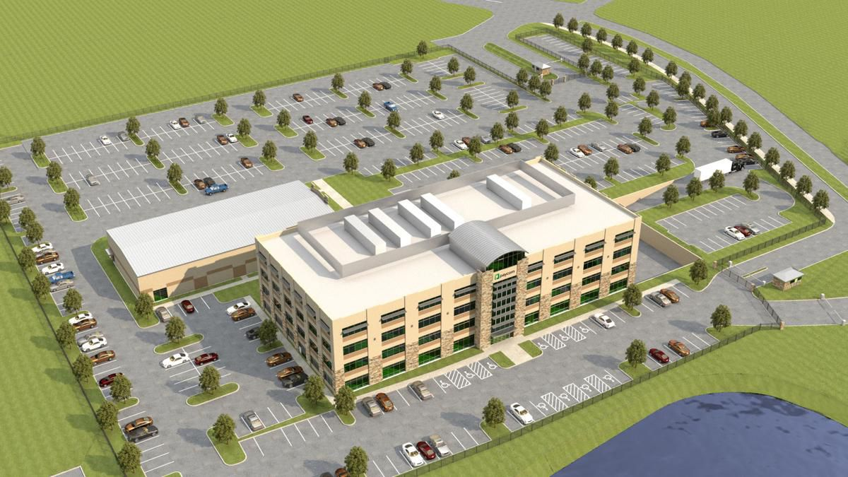 Paycom has started work on the first phase of an office campus that will eventually house 1,000 workers.