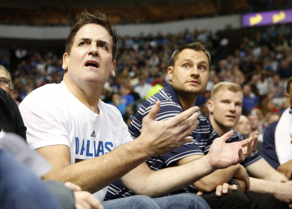 Dallas Mavericks owner Mark Cuban reacts to a call during the second period against the Minnesota Timberwolves at the American Airlines Center in Dallas on Feb. 28, 2016. (Rose Baca/The Dallas Morning News)