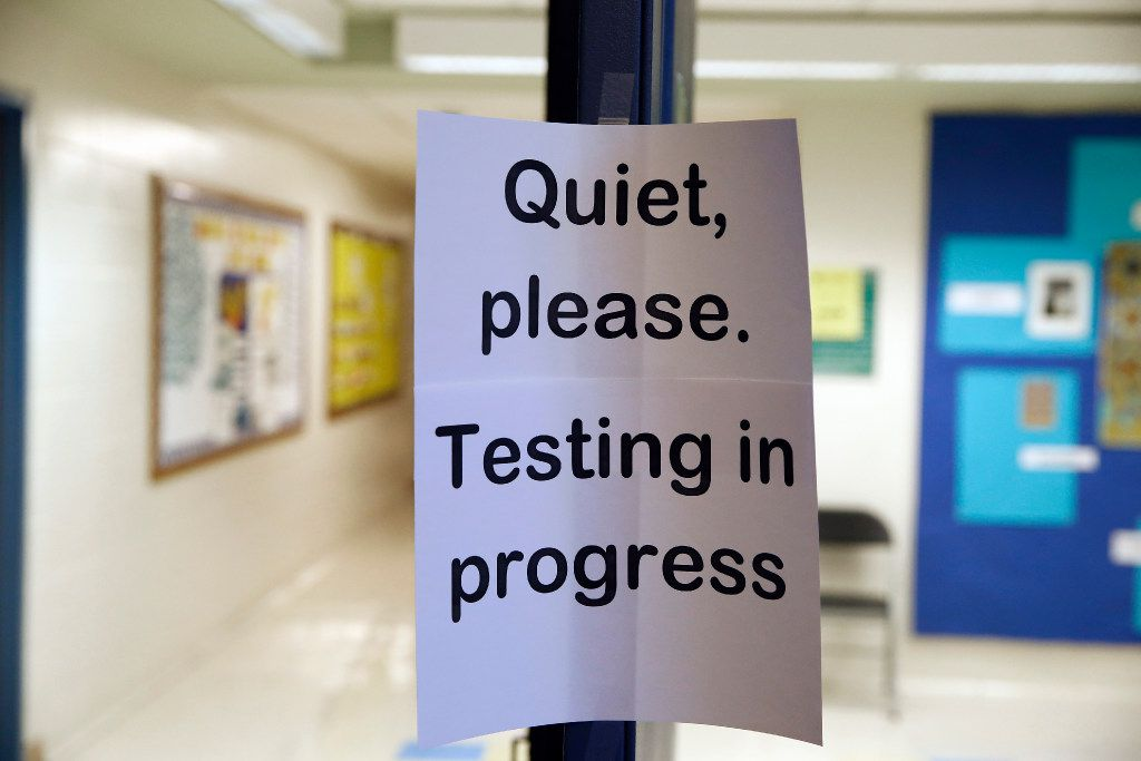 In this Jan. 17, 2016 file photo, a sign is seen at the entrance to a hall for a college test preparation class in Bethesda, Md. The $380 million test coaching industry is facing competition from free or low-cost alternatives in what their founders hope will make the process of applying to college more equitable. Such innovations are also raising questions about the relevance and the fairness of relying on standardized tests in admissions process.