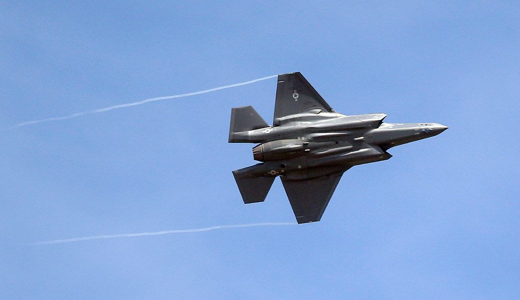 An F-35 jet arrives at its new operational base at Hill Air Force Base in northern Utah.