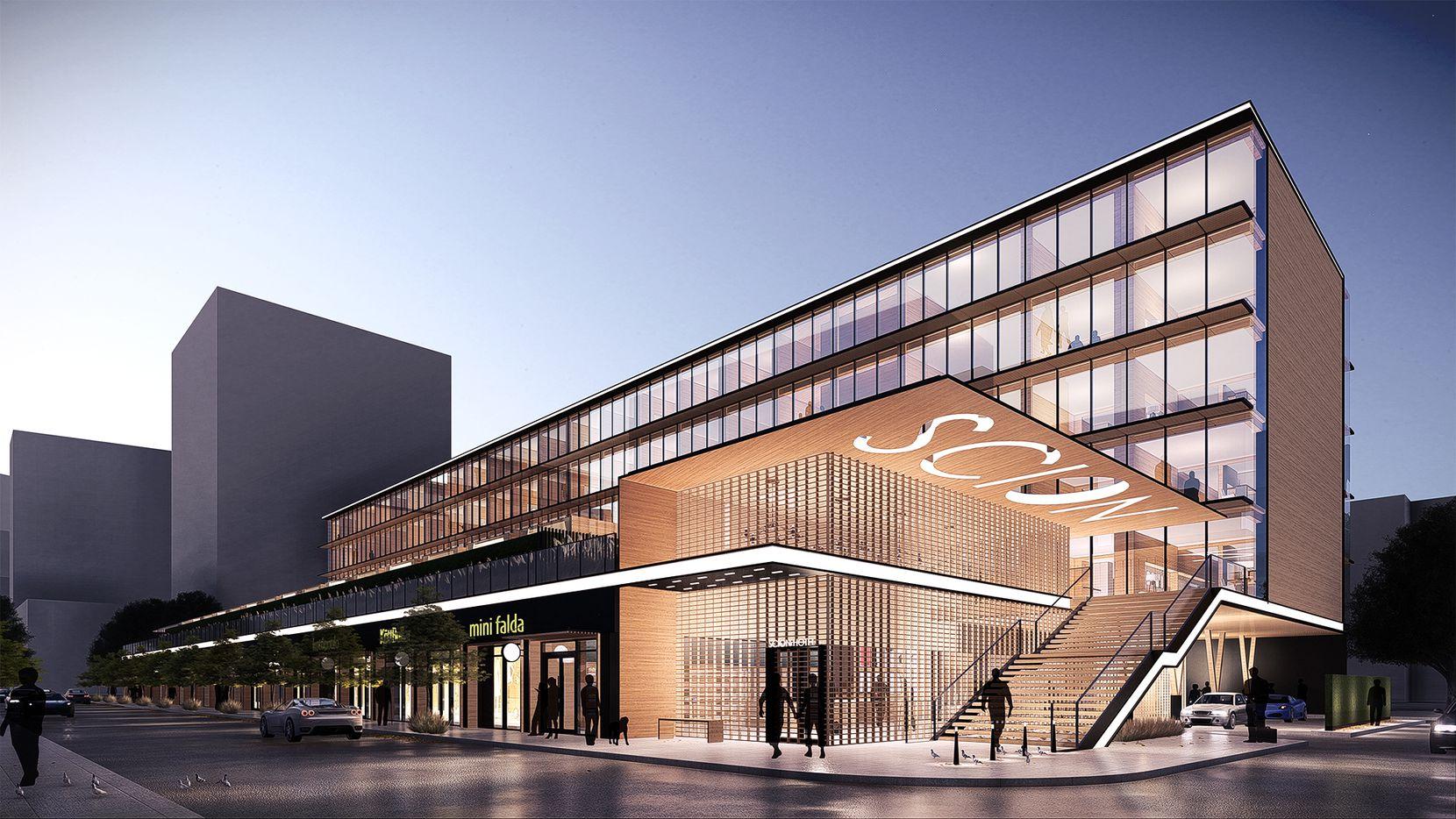 The 220-room hotel was designed by Dallas architect 5G Studio Collaborative.