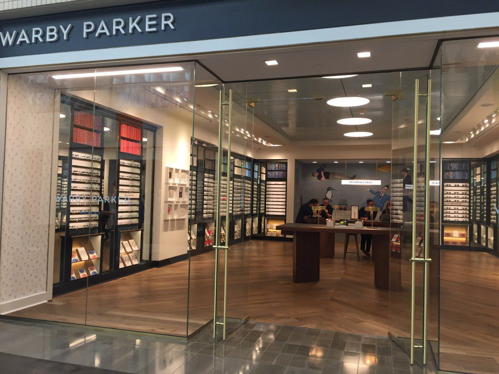 Warby Parker store at NorthPark Center in Dallas.