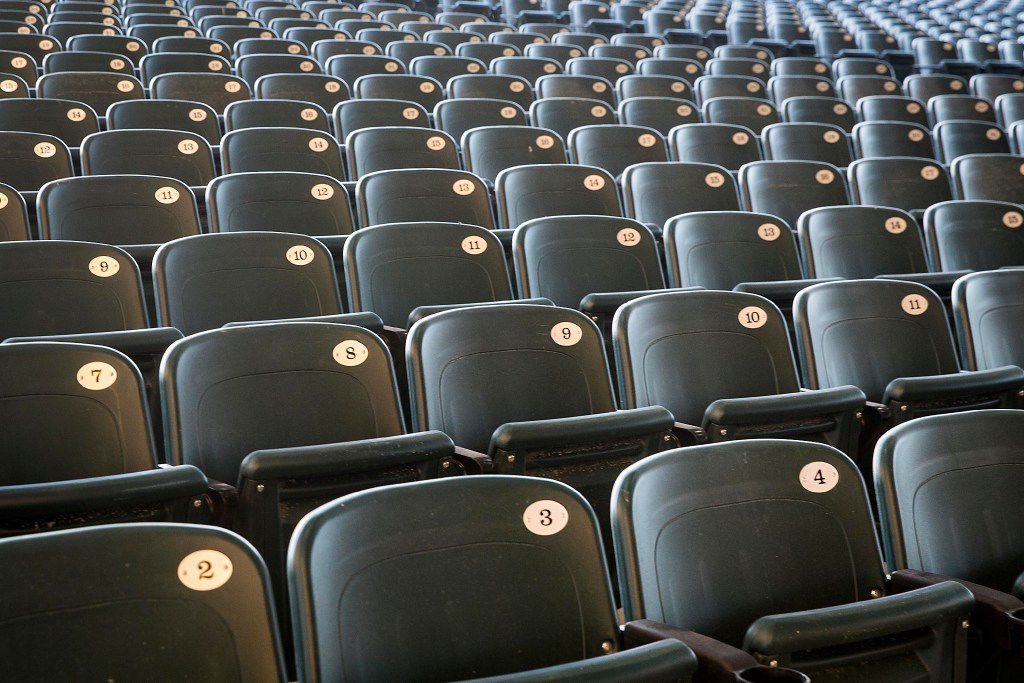 All 6,900-plus seats inside Starplex Pavilion have been replaced since last September. They're wider than their predecessors by a couple of inches. (Smiley N. Pool/Staff Photographer)