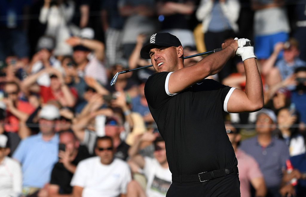 FARMINGDALE, NEW YORK - MAY 18: Brooks Koepka of the United States plays a shot from the 17th tee during the third round of the 2019 PGA Championship at the Bethpage Black course on May 18, 2019 in Farmingdale, New York. (Photo by Ross Kinnaird/Getty Images)