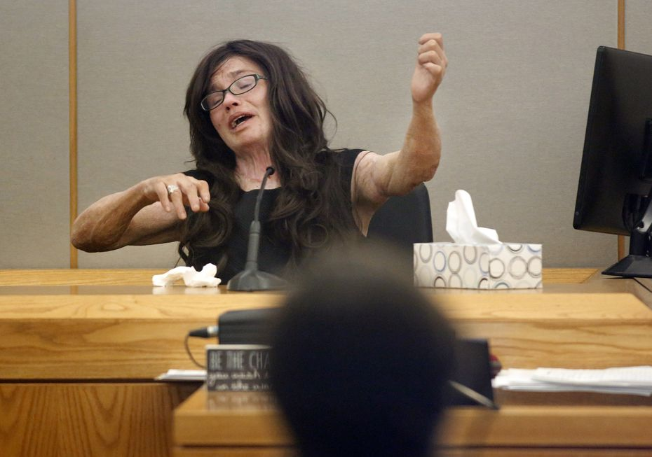 Testifying during the trial, Danyeil Townzen removed her jacket to show her scars to the judge and recounted the night Matthew Gerth attacked her for the final time.