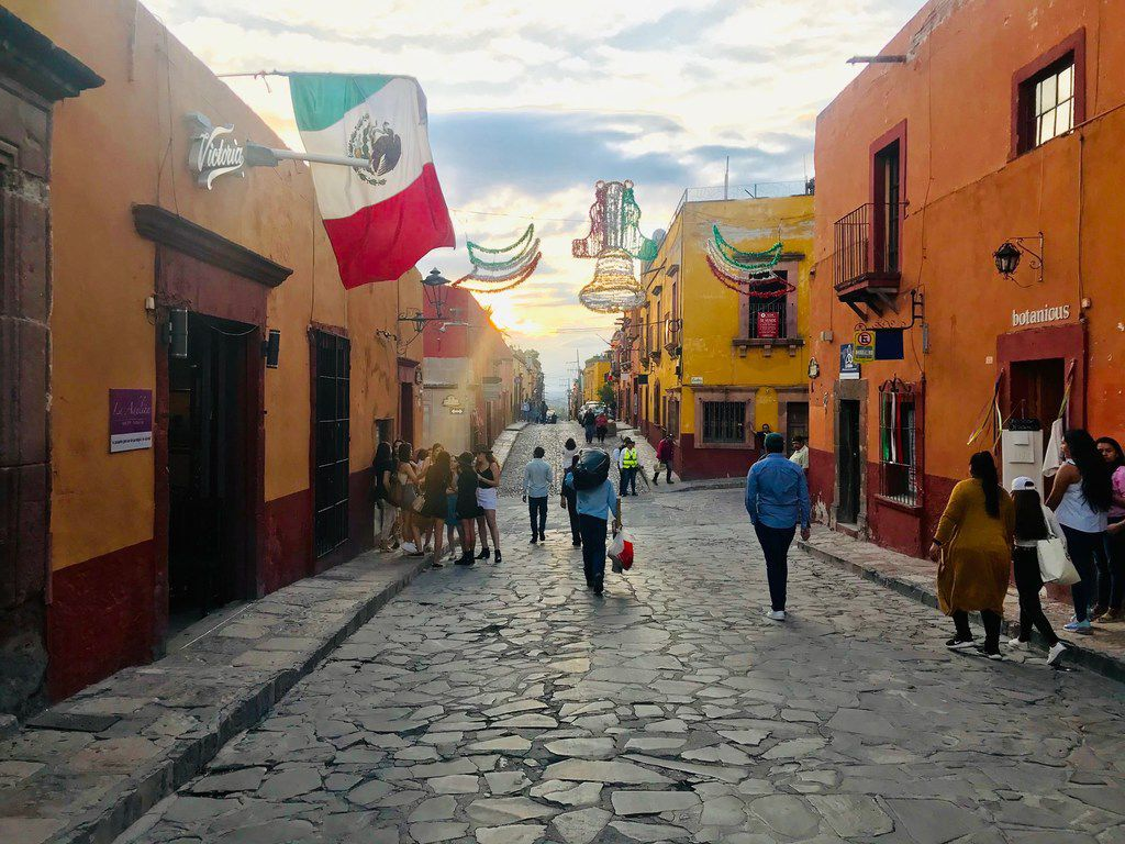 Vsitors flock annaully to the festival in San Miguel de Allende, known as Sanmiguelada, on September 28.