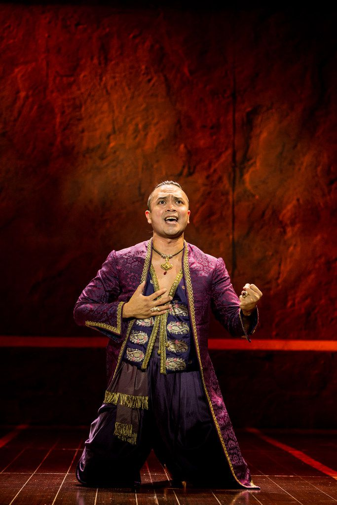 Jose Llana as the King in The King and I, presented by AT&T Performing Arts Center at Winspear Opera House Dec. 19-31, 2017.