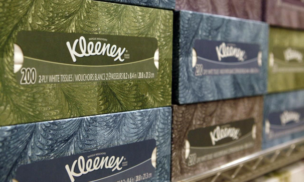 Kleenex tissues are a Kimberly-Clark brand. Just over half of the company's revenue comes from outside North America.
