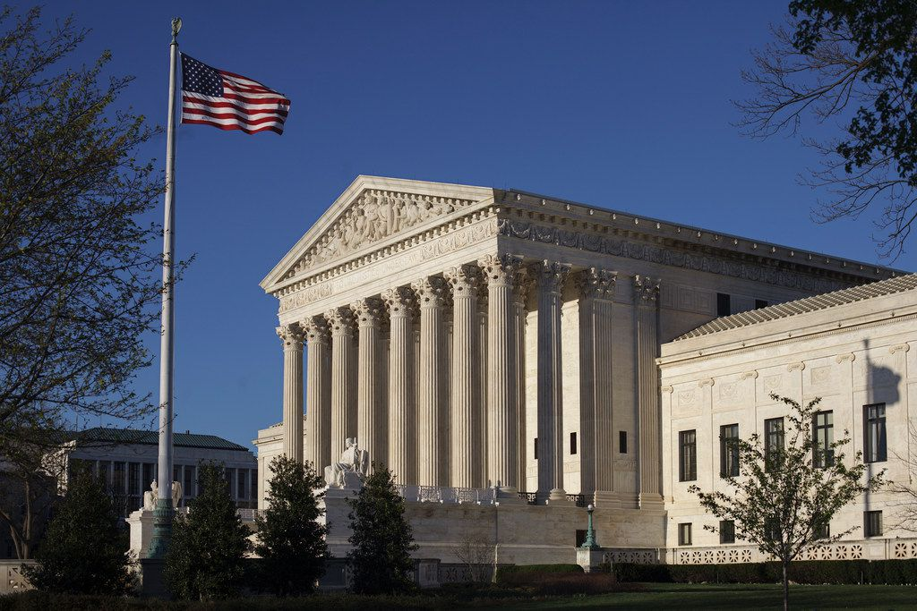 FILE - In this Tuesday, April 4, 2017 file photo, the Supreme Court Building is seen in Washington. Democrats and Republicans are poised for a Supreme Court fight about political line-drawing with the potential to alter the balance of power across a country starkly divided between the two parties. The big question at the heart of next week's high court clash is whether there can be too much politics in the inherently political task of drawing electoral districts. (AP Photo/J. Scott Applewhite, File)