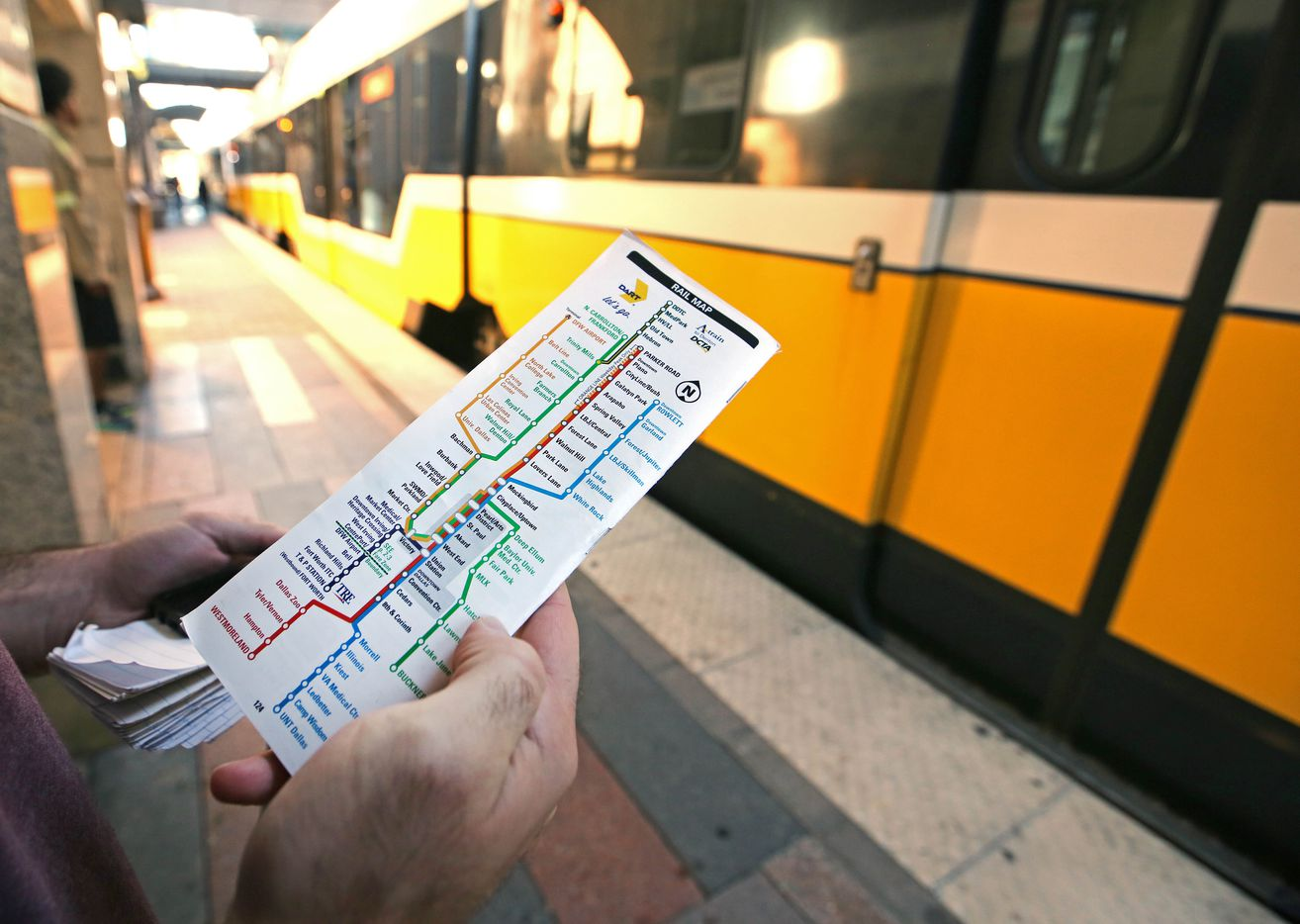 As a DART newbie, reporter Brendan Meyer gets familiar with the red, blue, green and orange light rail routes through downtown Dallas.