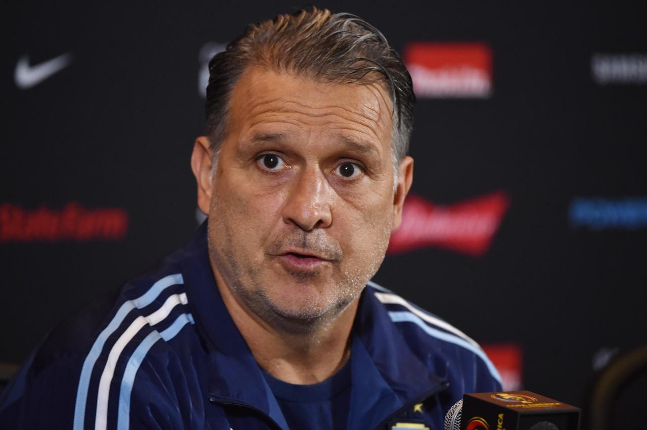 Gerardo Martino estuvo ocho meses sin recibir sueldo como DT de Argentina. (AFP/Getty Images/NELSON ALMEIDA)