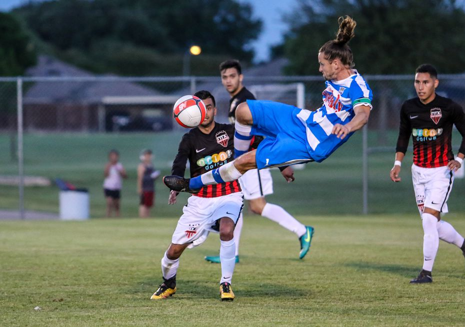 Fort Worth Vaqueros (blue) take on NTX Rayados (black) in US Open Cup play. (5-9-18)