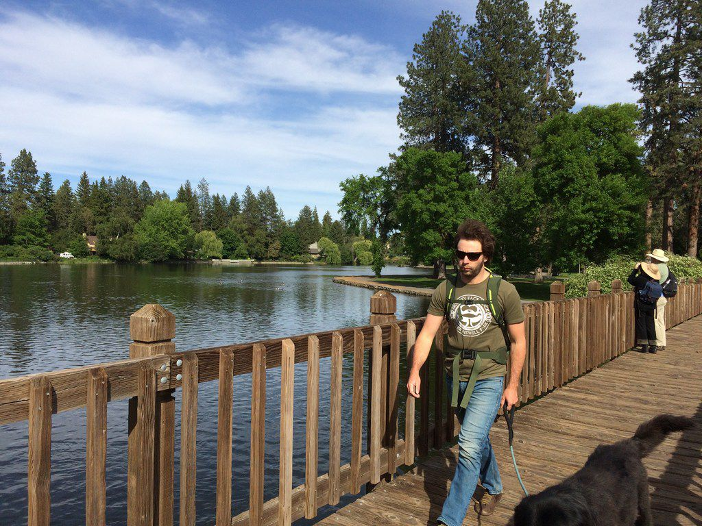 Take a stroll around Mirror Pond, a dammed part of the Deschutes River, in Drake Park on the edge of downtown Bend.