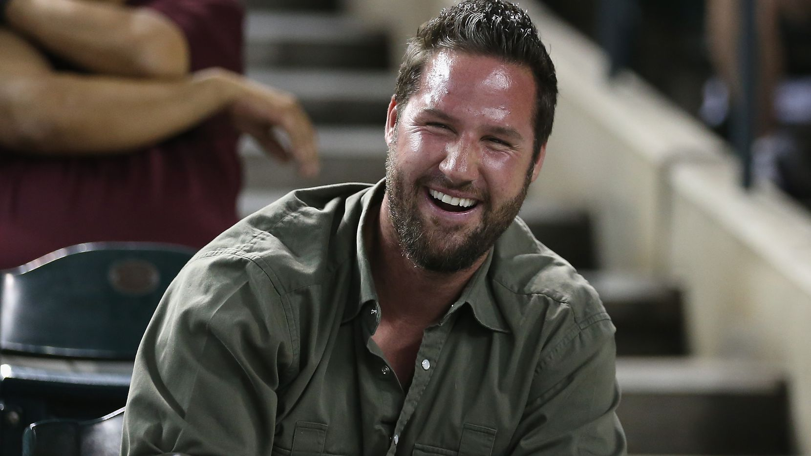 FILE - PHOENIX, AZ - APRIL 11, 2014:  Former Los Angeles Dodgers pitcher Eric Gagne is pictured at an Arizona Diamondbacks game at Chase Field on April 11, 2014, in Phoenix.  (Photo by Christian Petersen/Getty Images)